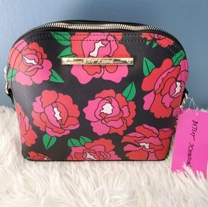 BETSEY JOHNSON - Red/Pink Flower Purse